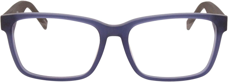 HG 0182 0FLL Matte Blue Eyeglasses Hugo hug 00 Demo Lens