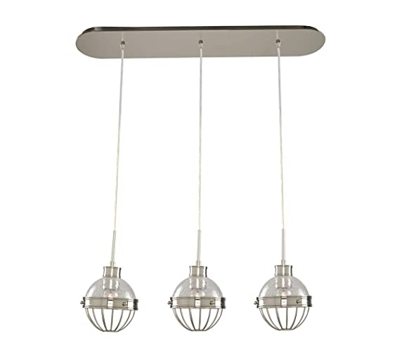 Amazon.com: Island Lighting - Lámpara de techo (3 focos ...