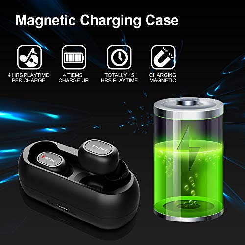 Wireless Earbuds, Tepoinn Bluetooth 5.0 True Wireless Bluetooth Headphones with Built-in Mic, in-Ear Stereo Wireless Earphones with Portable Charging Case