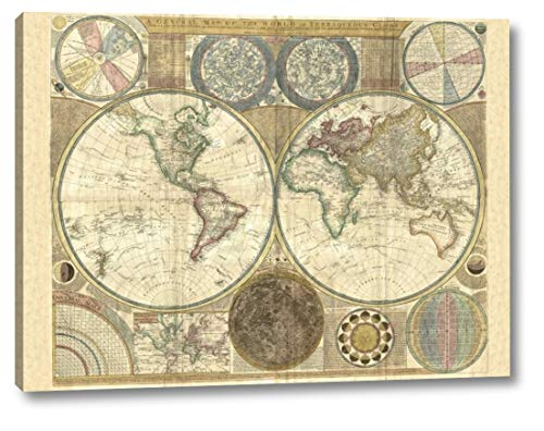 (Double Hemisphere map of The World 1794 by Samuel Dunn - 18
