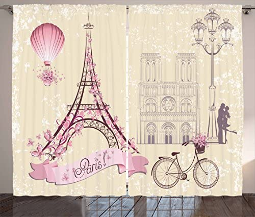 Ambesonne Kiss Curtain