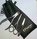 Grooming Kit Deluxe for MEN 3 Piece Set- MADE IN ITALY-Leather Pouch, Tools for Professionals ToeNailCutter, Safety Ear & Nose Hair Scissors, Slant Tweezers by Elite Point