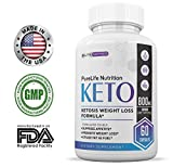 PureLife Keto Weight Loss Supplement: Fat Burner Pills, Extra Strength, Appetite Suppressant for Women and Men, Ketosis Weight Loss Pills, Carb Blocker for Ketogenic Diet (800mg BHB Potency)