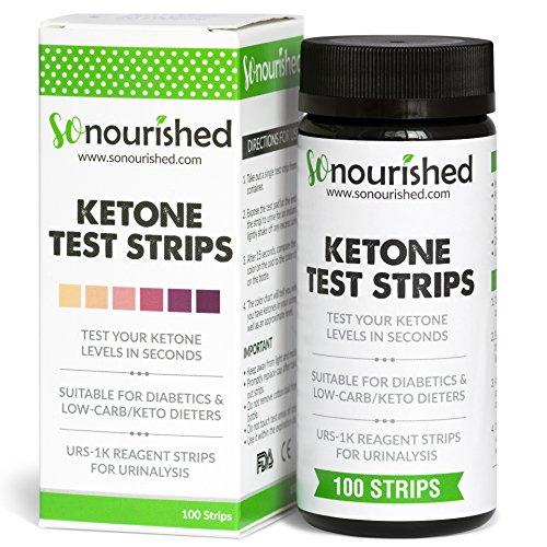 Urine Ketone Strips with FREE 14-DAY MEAL PLAN eBook - Ketosis Strips & Diabetic Test Strips. Ketosis Test with Keto Strips Takes Only 15 Seconds! 100 Keto Sticks.