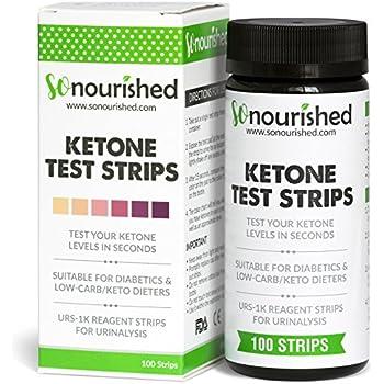 Urine Ketone Strips - Ketosis Strips & Diabetic Test Strips. Ketosis Test with Keto Strips Kit Takes Only 15 Seconds! 100 Keto Sticks.