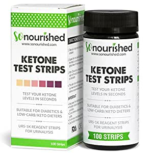 Urine Ketone Strips with FREE 14-DAY MEAL PLAN eBook - Ketosis Strips & Diabetic Test Strips. Ketosis Test with Keto Strips Takes Only 15 Seconds! 100 Keto Sticks.