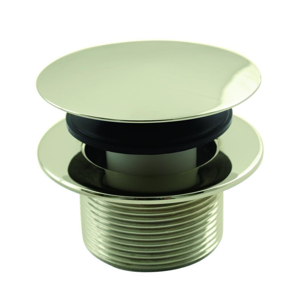 Westbrass D398R-01 Mushroom Tip Toe 1-1/2 in. NPSM Coarse Thread Bath Drain, Polished Brass