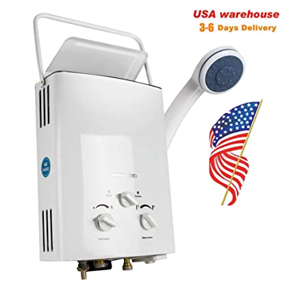 LPG Propane Gas 6L Hot Water Heater Tankless Instant Boiler Outdoor 12KW 【USA】