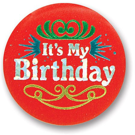 Birthday Satin Button Party Accessory