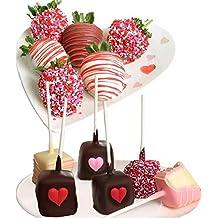 Belgian Chocolate Covered Strawberries & Cheesecake Pops - 12 pc Valentine's Day Gift Box