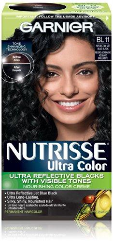 Garnier Nutrisse Couleur des cheveux couleur ultra nourrissant couleur crème, BL11 réfléchissant Jet Bleu Noir