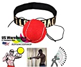 Fight Ball & Head Band for Reflex Reaction Speed Training Boxing Punch Exercise [US Warehouse] by AdvancedSho