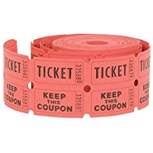 Double Raffle Ticket Roll, Assorted Colors (500ct)