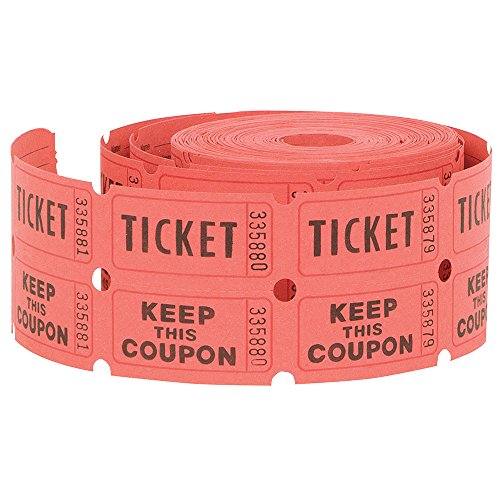 e Tickets, 500ct (Colors May Vary) (Tear Off Tickets)