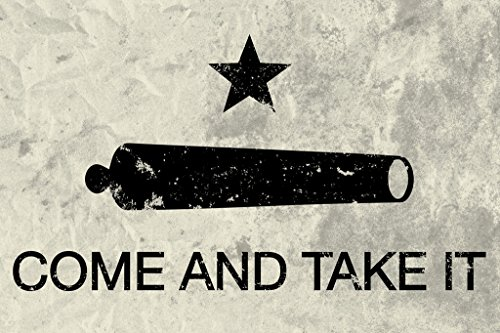 Come and Take It Flag Poster 12x18