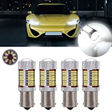CCIYU 4Pack White Super Bright 81SMD 1156 LED Bulb with Projector for Back Up Reverse Lights