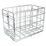 Wald 582 Folding Bicycle Rear Rack Grocery Baskets, Set of 2 (Chrome)