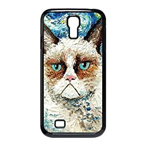 Jumphigh Cute Grumpy Cat Samsung Galaxy S4 Case Grumpy Cat Is Still Grumpy Art Print for Girls Protective, Samsung Galaxy S4 Cases for Girls Cheap, {Black}