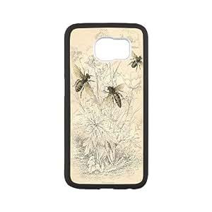 Custom LiuXueFei Phone caseHoney Bee Art Design For Samsung Galaxy S6 -Style-10