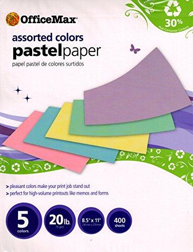 office-max-assorted-colors-pastel-paper-5-colors-20-lb-85-x-11-400-sheets