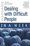 Dealing with Difficult People, Naomi Langford-Wood and Brian Salter, 0340849657