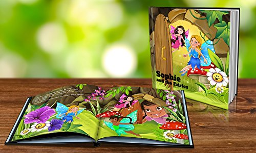 Personalized Story Book by Dinkleboo -The Fairies - For Girls Aged 0 to 8 Years Old - A Story Of Your Daughter On Search For Fairies - Smooth Satin Paper - Soft Cover (8