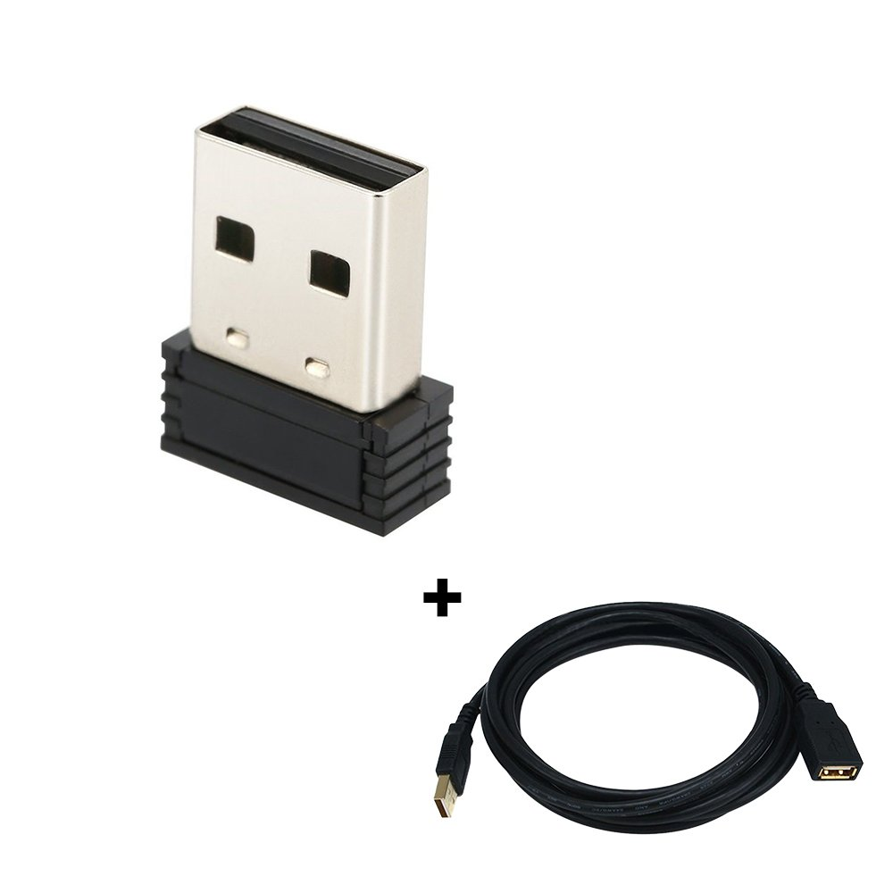 USB ANT+ Stick an Adapter for Zwift, Garmin, Suunto, TacX, Bkool, PerfPRO Studio, CycleOps, TrainerRoad to Upgrade Bike Trainer (with 3 Meters Extension Cable) by CYCPLUS