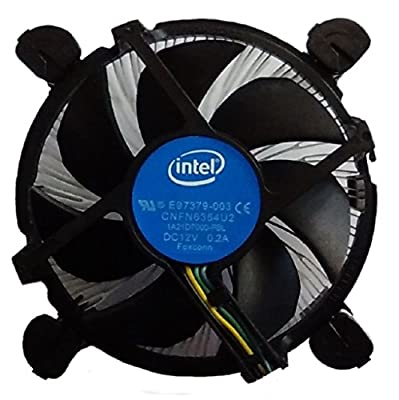 Intel Core i3 / i5 / i7 Socket 1150 / 1151 / 1155 / 1156 4-Pin Connector CPU Cooler With Aluminum Heatsink & 3.5-Inch Fan With Pre-Applied Thermal Paste For Desktop PC Computer (TS2)