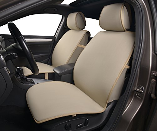 180503 Tan - Fabric 2 Front Car Seat Cover Cushions, for Car, Truck, SUV or Van, Breathable, Non-slip, Compatible to Mazda 3 (4-Door) 3 (5-Door) 6 CX-3 CX-5 CX-9 2018 2017-2007