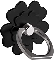 Ring Stand Holder, Creazy 1Pcs Metal Ring Stand Universal Applied Mobile Phone Stand 360 Degree Rotate (Black)