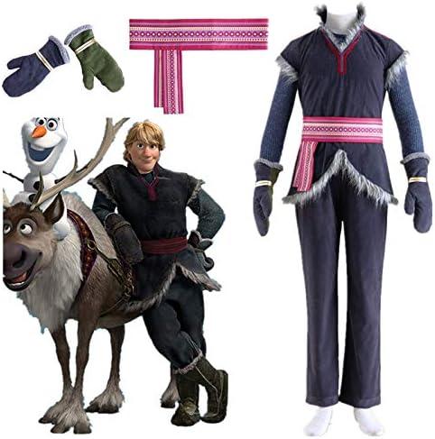 WSJDE Frozen Cosplay Kristoff Cosplay Granjero Ropa Disfraz ...