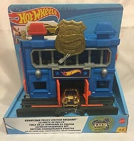 Mattel Hot Wheels-City Escape de la estación de policía, pistas de coches de juguetes niños +4 años, multicolor FNB00 , color/modelo surtido: Amazon.es: Juguetes y juegos