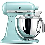 kitchen aid ice blue stand mixer - KitchenAid Artisan 5KSM175PSEIC 5 Qt.Stand Mixer Ice Blue with TWO Bowls & Flex Edge Beater 220 VOLTS NOT FOR USA