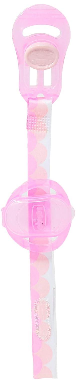 Chicco - Clip portachupete con protegechupetes integrado, color rosa