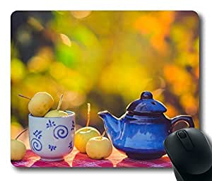Autumn Apples Mouse Pad Oblong Shaped Mouse Mat Design Natural Eco Rubber Durable Computer Desk Stationery Accessories Mouse Pads For Gift by mcsharks