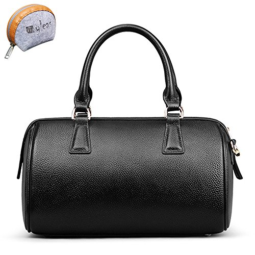 Genuine Bag 2w Myleas Handbag st5646 Leather Women Belt With Shoulder Black qtXUqOxSWw