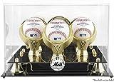 Mounted Memories New York Mets 3-Ball Acrylic Baseball Display Case