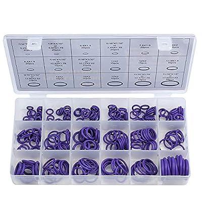 Faucet O Rings 18 Size Rubber O Ring 270pcs NBR Faucet Washer O Ring Kit Sealing Gasket Washer Seal Assortment Set (Purple)