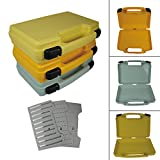 Aventik Streamer Fly Box Super Large Fly Fishing Box14X11X3.35 inch 360X 260X85mm Gray in Three Colors with Three Different Foams Fly Fishing Boat Fishing