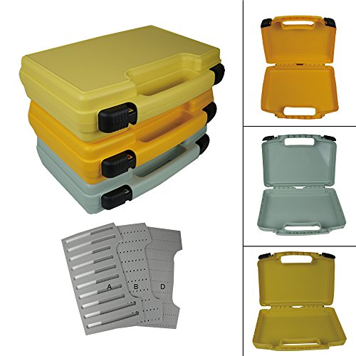 (Aventik Streamer Fly Box Super Large Fly Fishing Box 14X11X3.35 inch /360X 260X85mm Yellow in Three Colors with Three Different Foams)