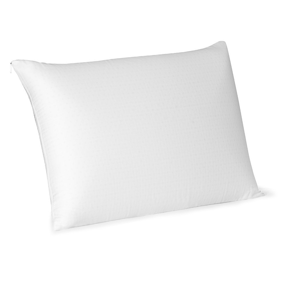 eLuxurySupply Beautyrest Latex Pillow | Hypoallergenic Natural Foam Pillows | 300 Thread Count 100 Percent Cotton Antimicrobial Cover - Queen Size