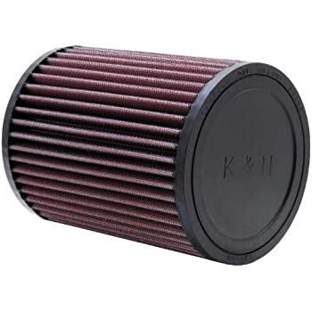 K/&N RE-0810 Universal Clamp-On Air Filter: Round Tapered; 3 in 76 mm Flange ID; 9 in Base; 4.625 in 117 mm 229 mm Height; 6 in 152 mm Top