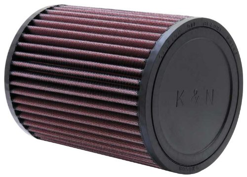 K&N RU-2820 Universal Clamp-On Air Filter: Round Straight; 3 in (76 mm) Flange ID; 6.5 in (165 mm) Height; 5 in (127 mm) Base; 5 in (127 mm) Top