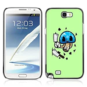 YOYOSHOP [Funny Mushroom Illustration] Samsung Galaxy Note 2 Case