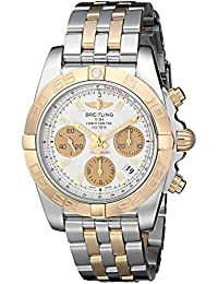 Mens CB014012-G713TT Chronomat 41 Analog Display Swiss Automatic Two Tone Watch. Breitling