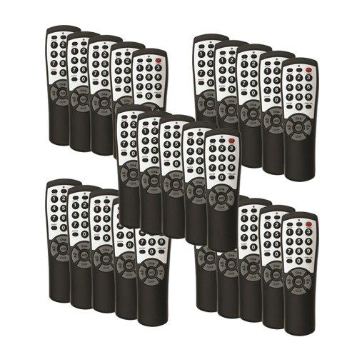 25-pack Brightstar® BR100B Universal TV Remote by Brightstar®
