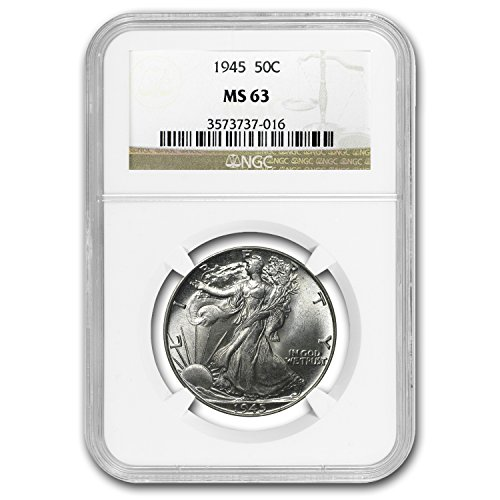 1940-1947 Walking Liberty Half-Dollar MS-63 NGC (Random) Half Dollar MS-63 NGC
