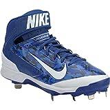 Nike Mens Camo Air Huarache Pro MId Camo Metal Cleats 11 US Blue/White