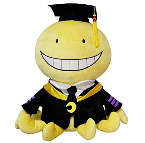 GK-O Anime Assassination Classroom Ansatsu Kyoushitsu Koro Sensei Plush  Doll Toy (Large)