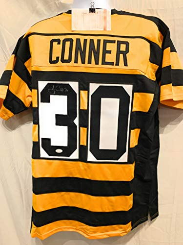 James Conner Pittsburgh Steelers Signed Autograph Throwback Custom Jersey JSA Witnessed Certified